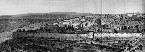 Old photograph from the outside of Jerusalem Part 1